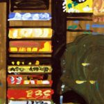 Nocturnes, Olivier Morel, Japon, peinture, Nuit Shinjuku Yen Shop