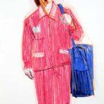 Uniformes, Olivier Morel - Uniforme 5, craies Conté / papier, 120 x 80 cm, 2008