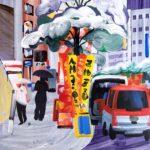 Olivier Morel, Japon, peinture, Ginza blanc