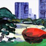 Olivier Morel, Japon, peinture, Hama rikyu 1