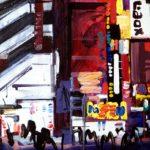 Nocturnes, Olivier Morel, Japon, peinture, Nuit Shinjuku Laox