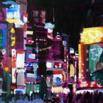 Nocturnes, Olivier Morel, Japon, peinture, Nuit Shinjuku Ilia