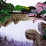 Olivier Morel, Japon, peinture, Parc impérial 5
