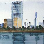 Olivier Morel, Japon, peinture, Sumida 1