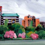 Olivier Morel, Japon, peinture, Ueno, Shinobazu 1