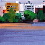 Olivier Morel, Japon, peinture, Ueno, Shinobazu 3