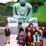 Olivier Morel, Japon, peinture, Bouddha express