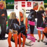 Olivier Morel, Japon, peinture, Filles et garçons, noir et rose