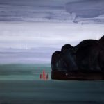Olivier Morel, Japon, peinture, Hakone, lac