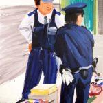Olivier Morel, Japon, peinture, La peinture encerclée par la police