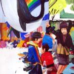 Olivier Morel, Japon, peinture, Le vol de la baleine
