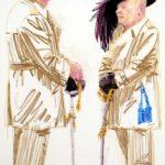 Uniformes, Olivier Morel - Uniforme 25, craies Conté / papier, 120 x 80 cm, 2011