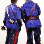 Uniformes, Olivier Morel - Uniforme 27, craies Conté / papier, 120 x 80 cm, 2011