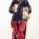 Uniformes, Olivier Morel - Uniforme 33, craies Conté / papier, 120 x 80 cm, 2011