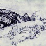 Olivier Morel, nouveau monde, pointe sèche sur cuivre