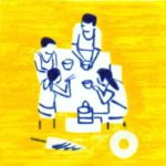 Olivier Morel, japon, gravure, pointe sèche