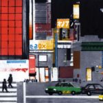 Olivier Morel, japon, gravure, pointe sèche et aquatinte