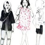 Olivier Morel, japon, gravure, pointe sèche, gravures