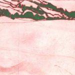 Olivier Morel, terre eau air feu, pointe sèche Leukerbad