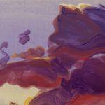 Olivier Morel, terre eau air feu, peinture acrylique nuages