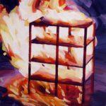 Olivier Morel, terre eau air feu, peinture acrylique