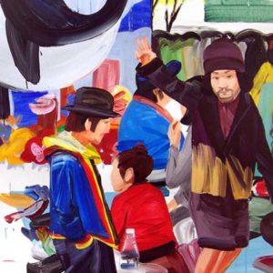 Olivier Morel, Japon, scènes urbaines, peinture acrylique