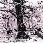 Forêts - Olivier Morel, Forêt nrv 16, acrylique/papier, 25 x 32,5 cm, 2018