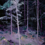 Olivier Morel - Forêt noire 8, acrylique/toile, 130 x 162 cm, 2019