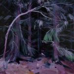 Olivier Morel - Forêt noire 9, acrylique/toile, 130 x 162 cm, 2019