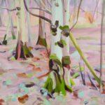 Olivier Morel - Forêt 42, acrylique/toile, 89 x 116 cm, 2019