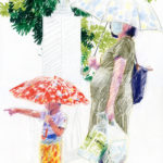 Olivier Morel, Tokyo kids, Japon, dessin, crayons de couleur, art contemporain