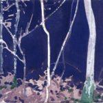 Olivier Morel, Forêt aq 24, aquarelle sur papier, art contemporain
