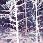 Olivier Morel, Forêt aq 25, aquarelle sur papier, art contemporain