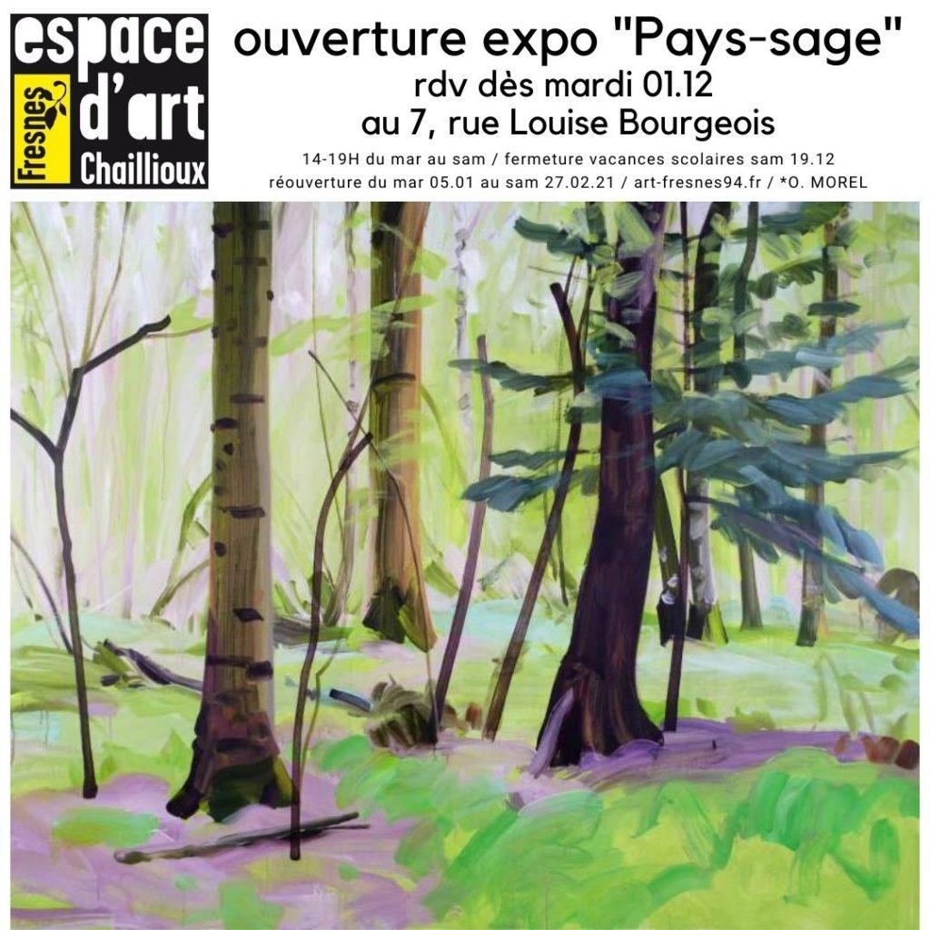 Olivier Morel Pays-sage espace d'art Chailloux Fresnes