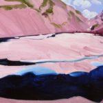 Olivier Morel montagnes eau sixt lac peinture acrylique