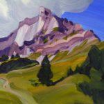 Olivier Morel montagne sixt giffre anterne peinture acrylique