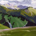Olivier Morel montagne sixt giffre la bourgeoise peinture acrylique