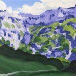 Olivier Morel montagne sixt giffre peinture acrylique