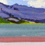 Olivier Morel montagne sixt lac anterne peinture acrylique