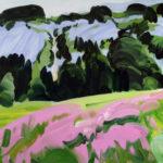 Olivier Morel montagne sixt lac les fonts peinture acrylique