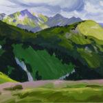 Olivier Morel montagne sixt la bourgeoise peinture acrylique