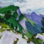 Olivier Morel montagne sixt dent de verreu peinture acrylique