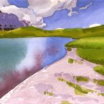 olivier morel aquarelle sur papier montagne sixt